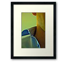 Open Collar Framed Print