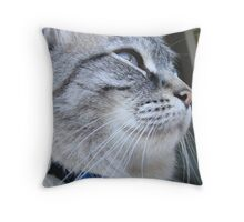 Lookin out into the world Throw Pillow