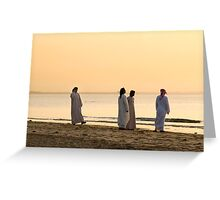 Sunset chat Greeting Card