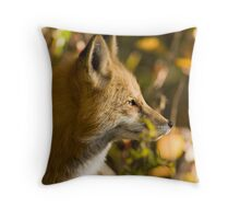 Red Fox Profile Throw Pillow