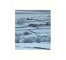 North York Moors in Infra Red Art Print