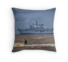 HMS Illustrious Throw Pillow