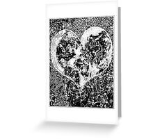 """Love Yourself"" Heart shaped world, Ink 1990 Greeting Card"