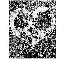 """Love Yourself"" Heart shaped world, Ink 1990 Photographic Print"