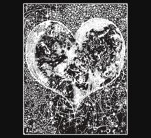 """Love Yourself"" Heart shaped world, Ink 1990 by O O"