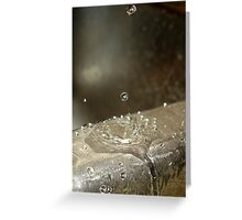 Drop splat. Greeting Card