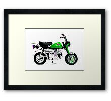 MONKEY BIKE ARTWORK MOTORCYCLE Framed Print