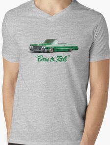 Born to roll Mens V-Neck T-Shirt