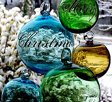 Glass Globes: View of the World - Merry Christmas by silverdew