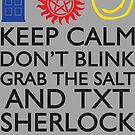 SUPERWHOLOCK SUPERNATURAL DOCTOR WHO SHERLOCK by fandomfashions