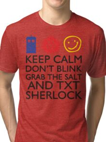 SUPERWHOLOCK SUPERNATURAL DOCTOR WHO SHERLOCK Tri-blend T-Shirt
