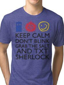 SUPERWHOLOCK SUPERNATURAL DOCTOR WHO SHERLOCK Tri-blend T-Shirt