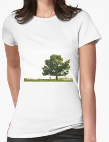 Tire Swing on Lone Tree Womens Fitted T-Shirt