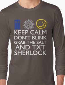 SUPERWHOLOCK SUPERNATURAL DOCTOR WHO SHERLOCK Long Sleeve T-Shirt