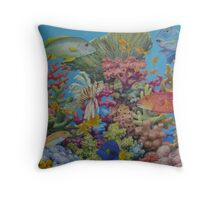 Red Sea Reef Throw Pillow