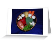Mixed Vegetables Greeting Card