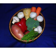 Mixed Vegetables Photographic Print