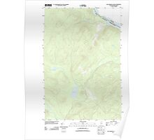 Maine USGS Historical Map Falls Brook Lake 20110906 TM Poster