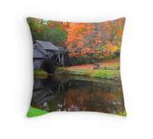 Mabry Mill in the Fall Throw Pillow
