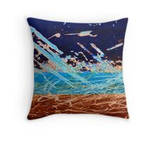 The Boat Scratch abstract Throw Pillow