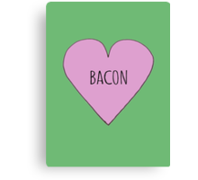 Bacon Love Canvas Print