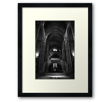 Gothic Hall Framed Print