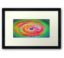 Colourful Heart-Available As Art Prints-Mugs,Cases,Duvets,T Shirts,Stickers,etc Framed Print