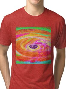 Colourful Heart-Available As Art Prints-Mugs,Cases,Duvets,T Shirts,Stickers,etc Tri-blend T-Shirt