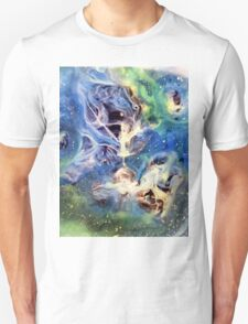 White Light Watercolor Abstraction Painting T-Shirt