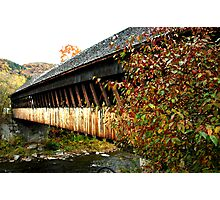 Woodstock, VT covered bridge Photographic Print