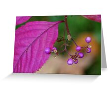 purple planet Greeting Card