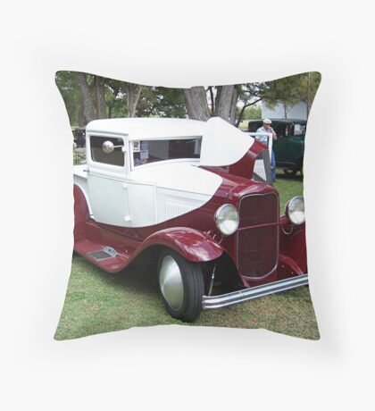 1932 Ford Closed Cab Pickup Truck Throw Pillow