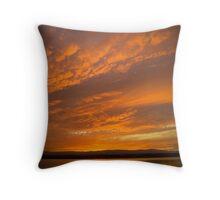 Breathtaking sunest over lake Throw Pillow