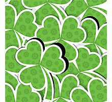 Cute Lucky Clover Pattern Photographic Print