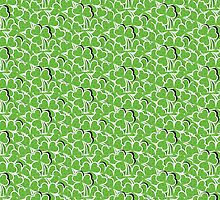 Cute Lucky Clover Pattern by holidayswaggs