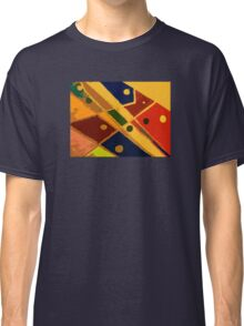 Retro Abstract Art Golden Classic T-Shirt
