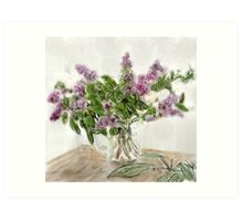 Liliac Ladies  Art Print