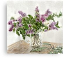 Liliac Ladies  Canvas Print