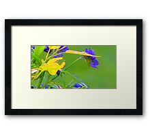 Yellow  Green and Blue Embossed-Available As Art Prints-Mugs,Cases,Duvets,T Shirts,Stickers,etc Framed Print