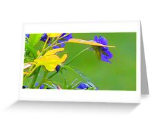 Yellow  Green and Blue Embossed-Available As Art Prints-Mugs,Cases,Duvets,T Shirts,Stickers,etc Greeting Card