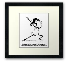 Sheep dance Framed Print