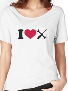 I love screwdriver tools Women's Relaxed Fit T-Shirt