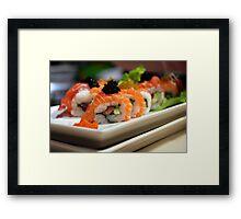 Sushi art Framed Print