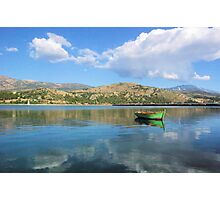 Little Green Boat Photographic Print