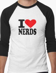 I love nerds Men's Baseball ¾ T-Shirt