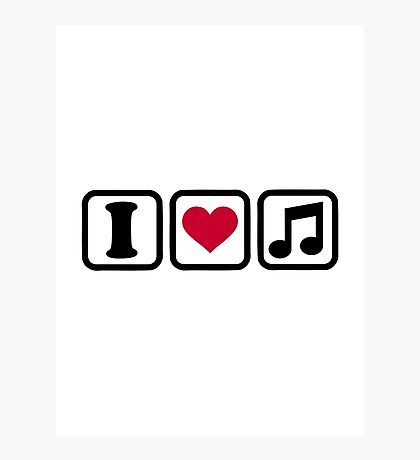 I heart music note Photographic Print