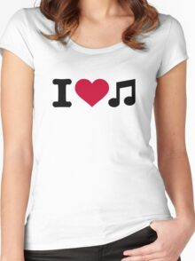 I love music note Women's Fitted Scoop T-Shirt