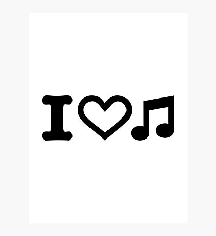 I love music note Photographic Print