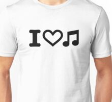 I love music note Unisex T-Shirt