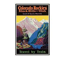 Colorado Rockies Travel Poster by AmazingMart